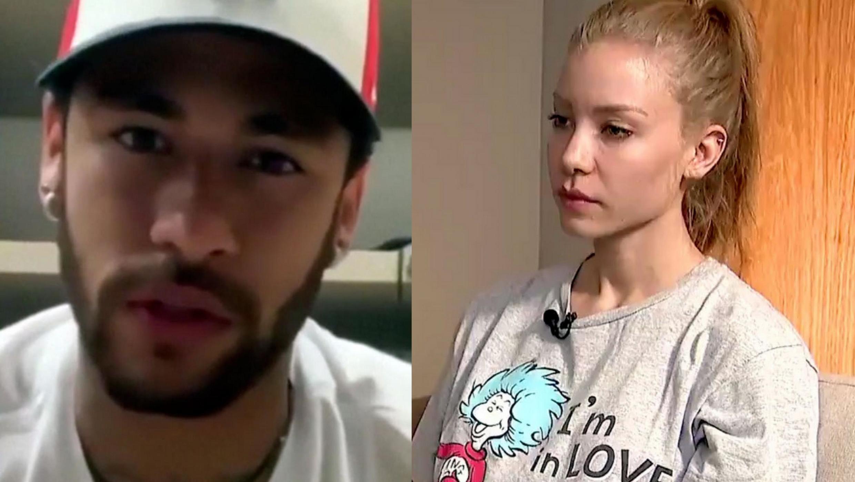 Neymar tare da  Najila Trindade da ake zargin ya yi wa fyade