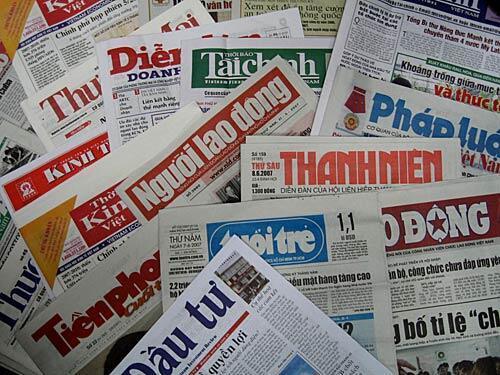 Toàn bộ báo chí Việt Nam do Nhà nước kiểm soát.