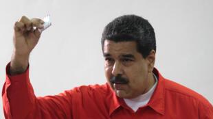 O  Presidente da Venezuela, Nicolás Maduro. 30 de Julho  de 2017