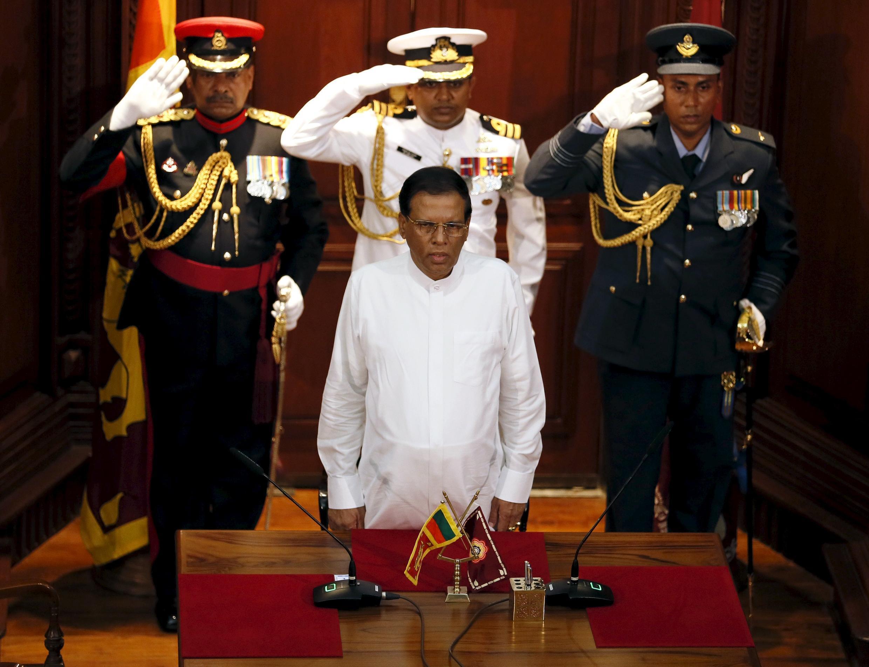 Shugaban kasar Sri Lanka's Maithripala Sirisena