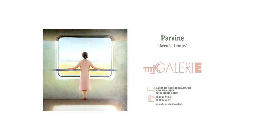 اثری از پروین حائری در نمایشگاه Avec le temps که تا روز ١٨آوریل در پاریس جریان دارد.