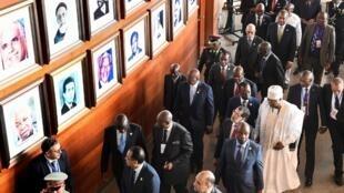 Chefes de Estado e de Governo na 11ª Cimeira Extraordinária da União Africana. 17/11/18.