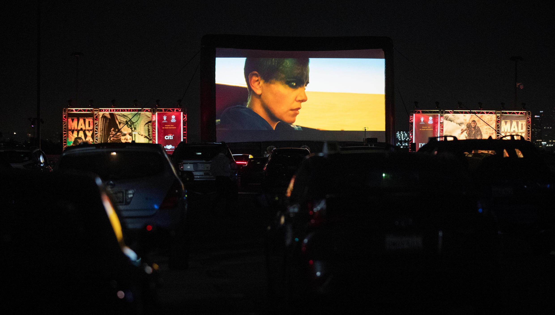 Ảnh minh họa: Một buổi chiếu phim ngoài trời tại Los Angeles (California - Hoa Kỳ) ngày 31/07/2020.