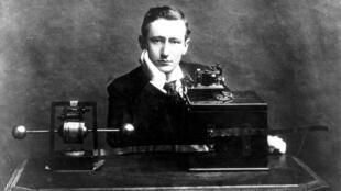 Le physicien italien Gugliemo Marconi (1874-1937)