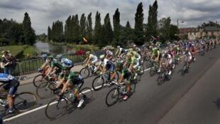 La huitième étape du Tour de France 2014 : Tomblaine-Gerardmer, le 12 juillet 2014.