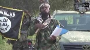 Abubakar Shekau in a propaganda video for Boko Haram.