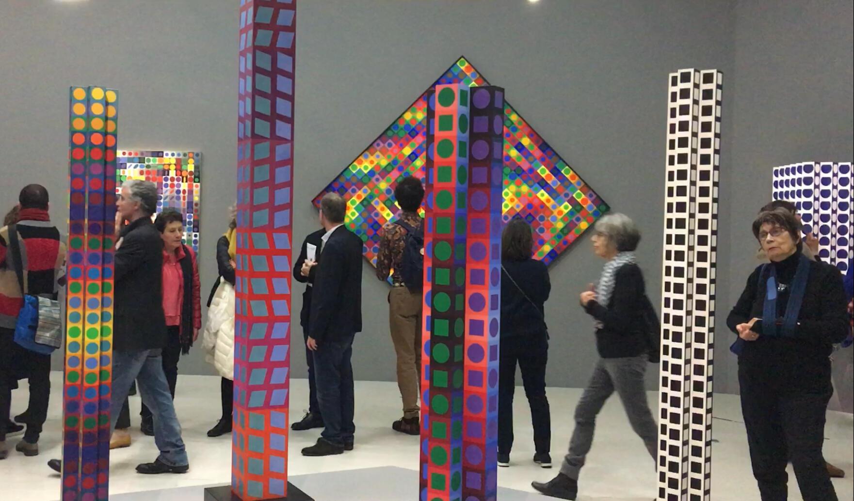 6 февраля в парижском центре Помпиду открылась рестроспектива Вазарели.