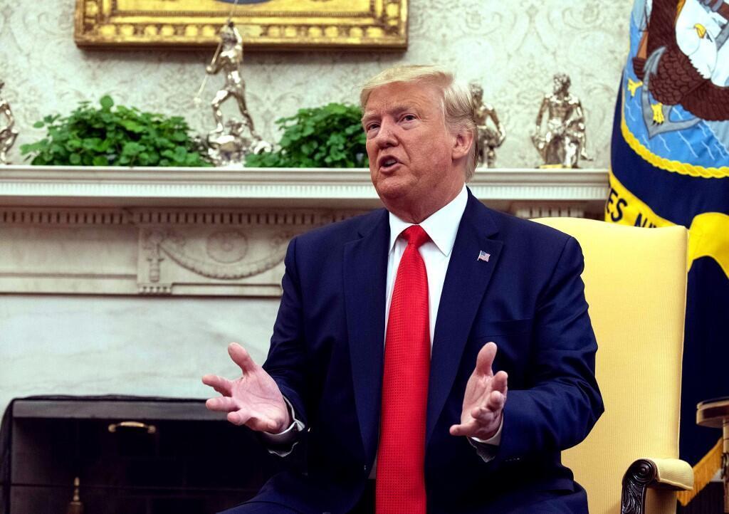 Tổng thống Mỹ, Donald Trump tại phòng Bầu Dục, Nhà Trắng, Washington, ngày 11/09/2019.