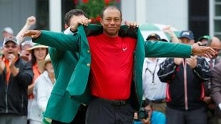 La veste verte du tournoi d'Augusta pour ce formidable retour du champion.