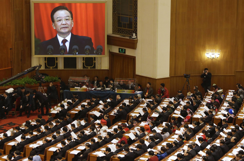 O primeiro-ministro chinês, Wen Jiabao, pronunciou nesta terça-feira (5) seu último discurso como chefe de governo.