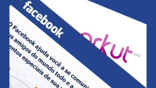 As redes sociais Facebook e Orkut, duelo.