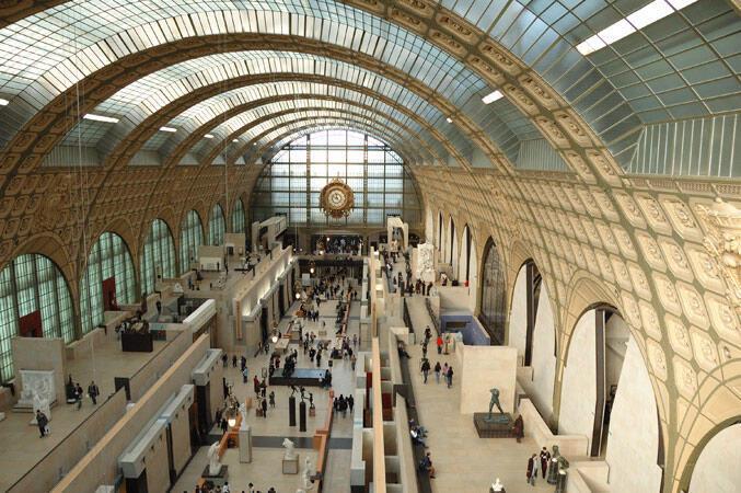 Inside the Musée d'Orsay in Paris