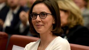 Amélie de Montchalin, le 31 mars 2019. Elle était alors nommée secrétaire d'État aux Affaires européennes.