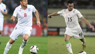 L'Anglais Frank Lampard face à l'Algérien Karim Ziani.