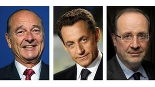 Jacques Chirac, Nicolas Sarkozy and François Hollande, all reportedly the targets of US wiretaps