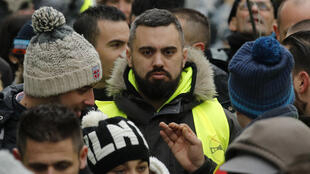 Eric Drouet at a Yellow Vest protest in Paris, February 2019.