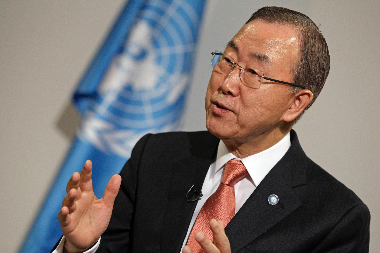 O secretário-geral da ONU, Ban Ki-moon.