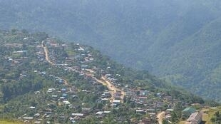 Un aperçu de la ville de Matupi dans l'État Chin en Birmanie. La photo a été pris en 2014.