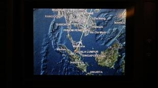 План рейса MH318 компании Malaysia Airlines
