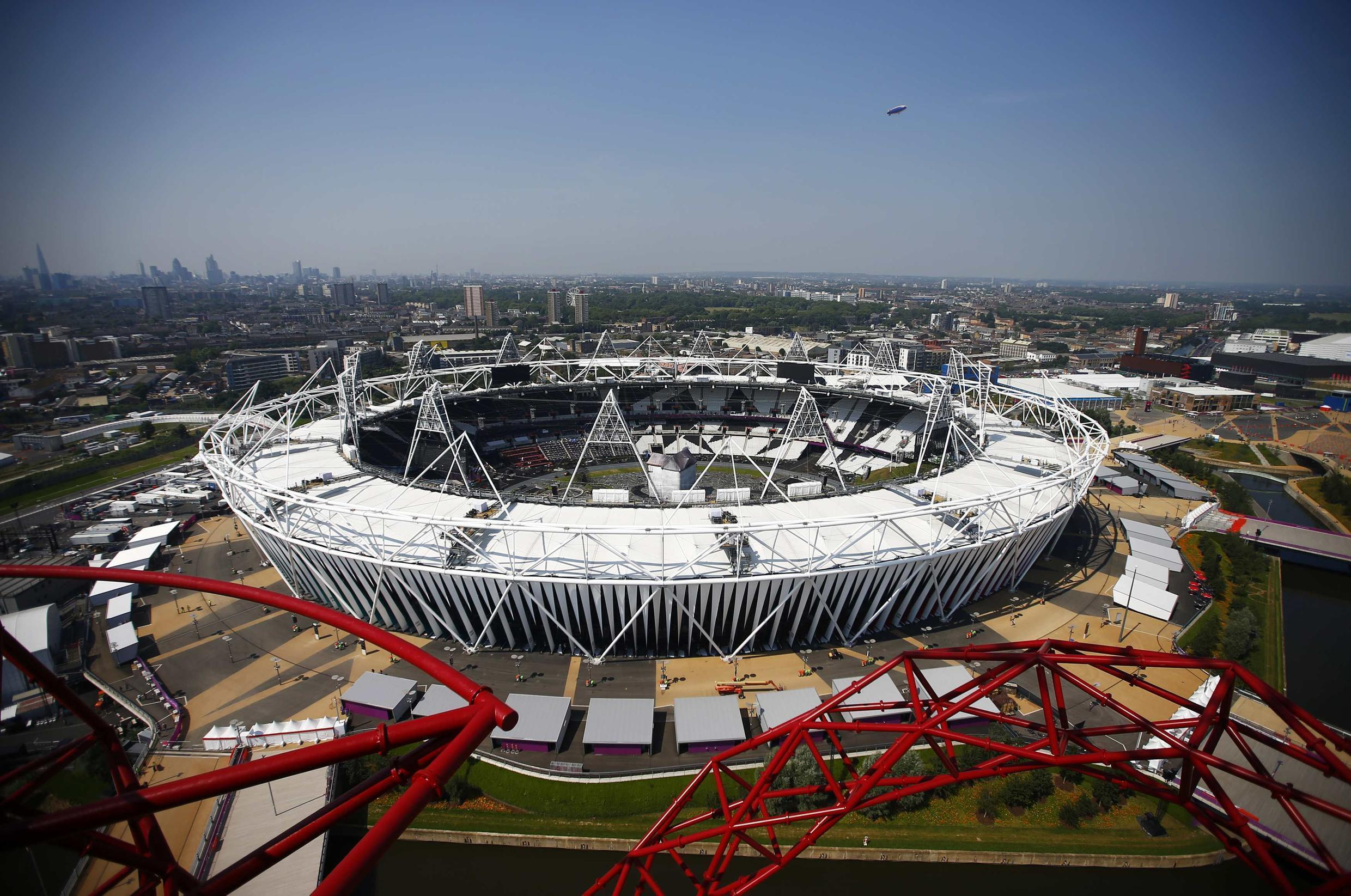 The Olympic Stadium in Stratford, east London, will host the opening ceremony