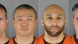 The four former Minneapolis police officers charged over the death of George Floyd, L to R: Derek Chauvin, Tou Thao, Alexander Kueng and Thomas Lane
