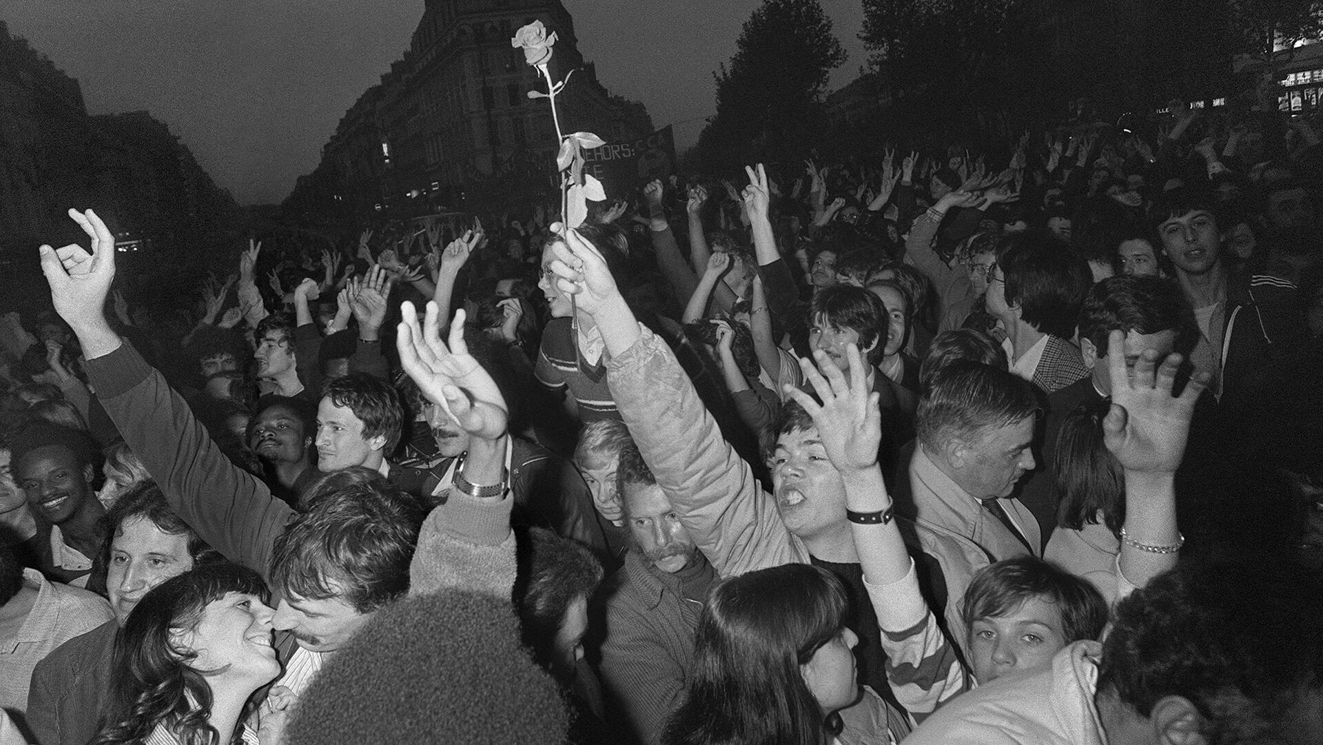 France - Victoire François Mitterrand 1981_000_ARP1698605 - La marche du monde