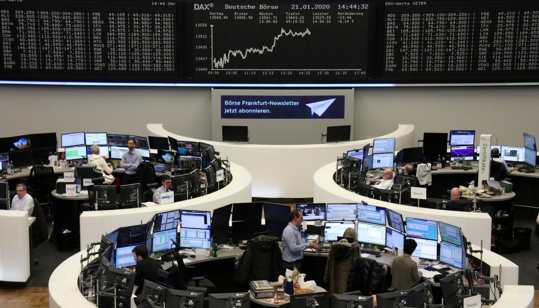 Франкфуртская биржа, 21 января 2020 год.