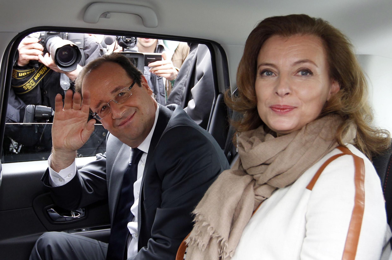 Франсуа Олланд и Валери Трирвейлер, Лагенн (Laguenne),  6 мая, 2012 года