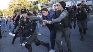 Givara Budeiri journaliste al jazeera jerusalem police Sheikh Jarrah