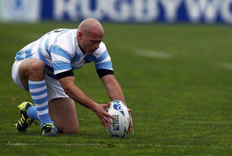 Felipe Contepomi, lors de la Coupe du monde 2011 de rugby.