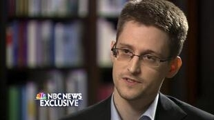 Edward Snowden durante uma entrevista para NBC em 28 de maio de 2014.