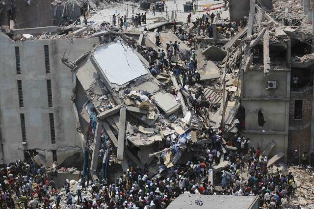 Руины швейной фабрики 24/04/2013