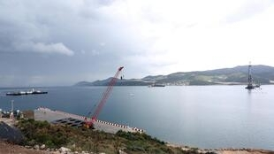 General view of the construction site of Peljesac Bridge at Brijesta<br>General view of the construction site of Peljesac Bridge at Brijesta, Croatia, April 11, 2019.