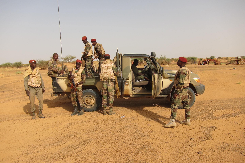 Patrouille malienne dans la région de Gao, au Mali.