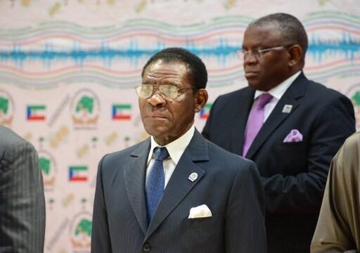 Rais wa Equatorial Guinea, Obiang Nguema Mbasogo, wakati wa mkutano wa ACP mjini Malabo, Desemba 13, 2012.