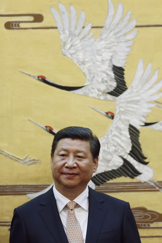 Chủ tịch Trung Quốc Tập Cận Bình tại Đại sảnh đường Nhân dân Bắc Kinh ngày 22/09/2013.