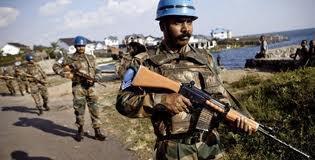 Wanajeshi wa kulinda amani wa  Umoja wa Mataifa wakiwa Mashariki mwa DRC