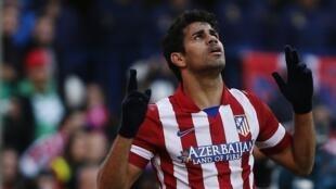 Diego Costa Dan wasan Atlético Madrid.