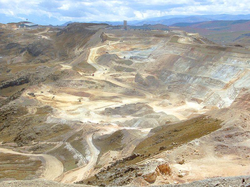 Mine d'or près de Cajamarca au Pérou.