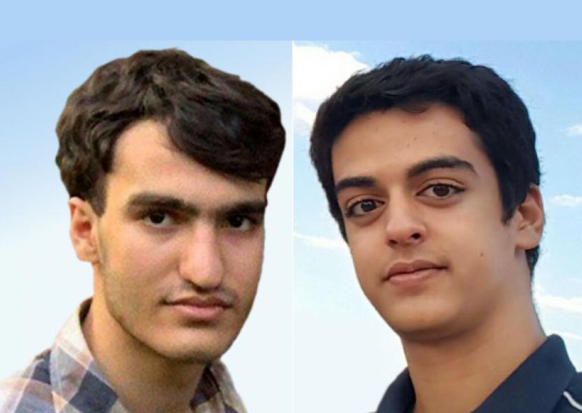 علی یونسی و امیرحسین مرادی، دو دانشجوی دانشگاه صنعتی شریف که دردر بازداشت بسر میبرند.
