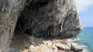 Neanderthal cave at  Gorham, Gibraltar.