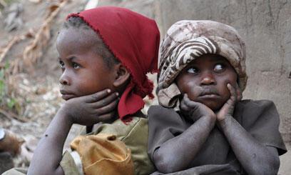 Wasu kananan yara a Afrika