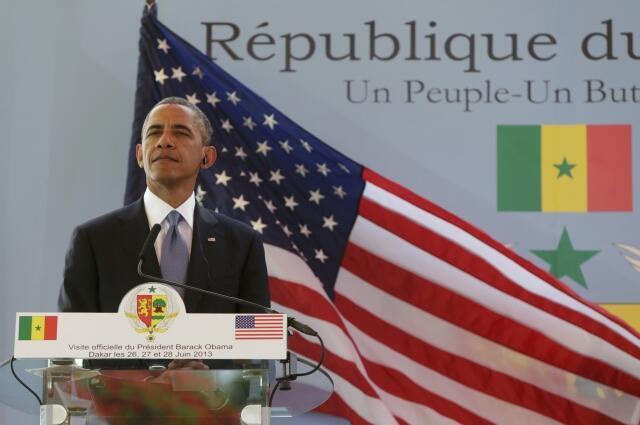 Presidente de EEUU, Barack Obama en Dakar, 27 de junio de 2013.