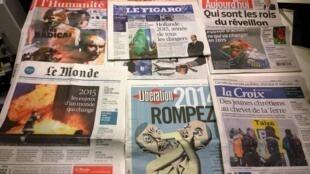 Diários franceses 31/12/2014