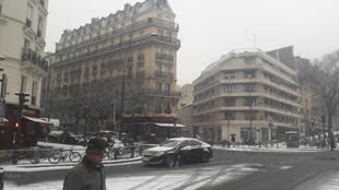 There was noticeably less traffic at this intersection on the east side of Paris.
