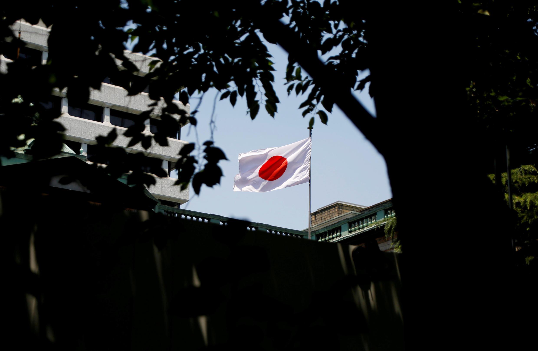 東京一處日本國旗