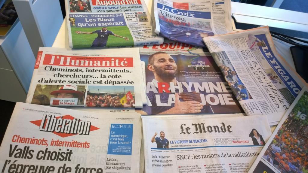 Diários franceses 16/06/2014