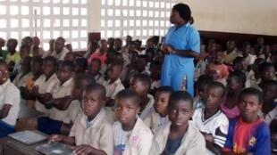 Une classe à Brazzaville, en 2013.