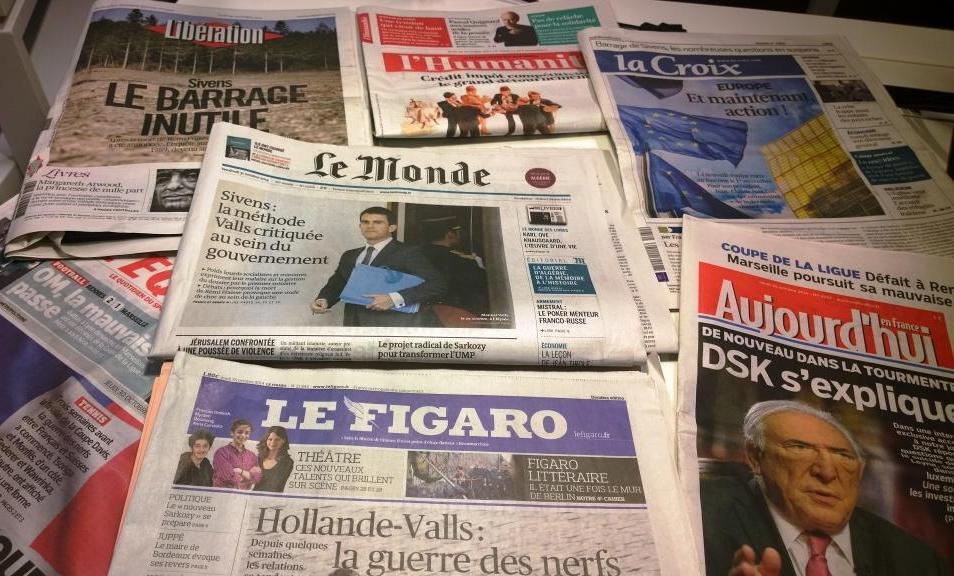 Diários franceses 30/10/2014