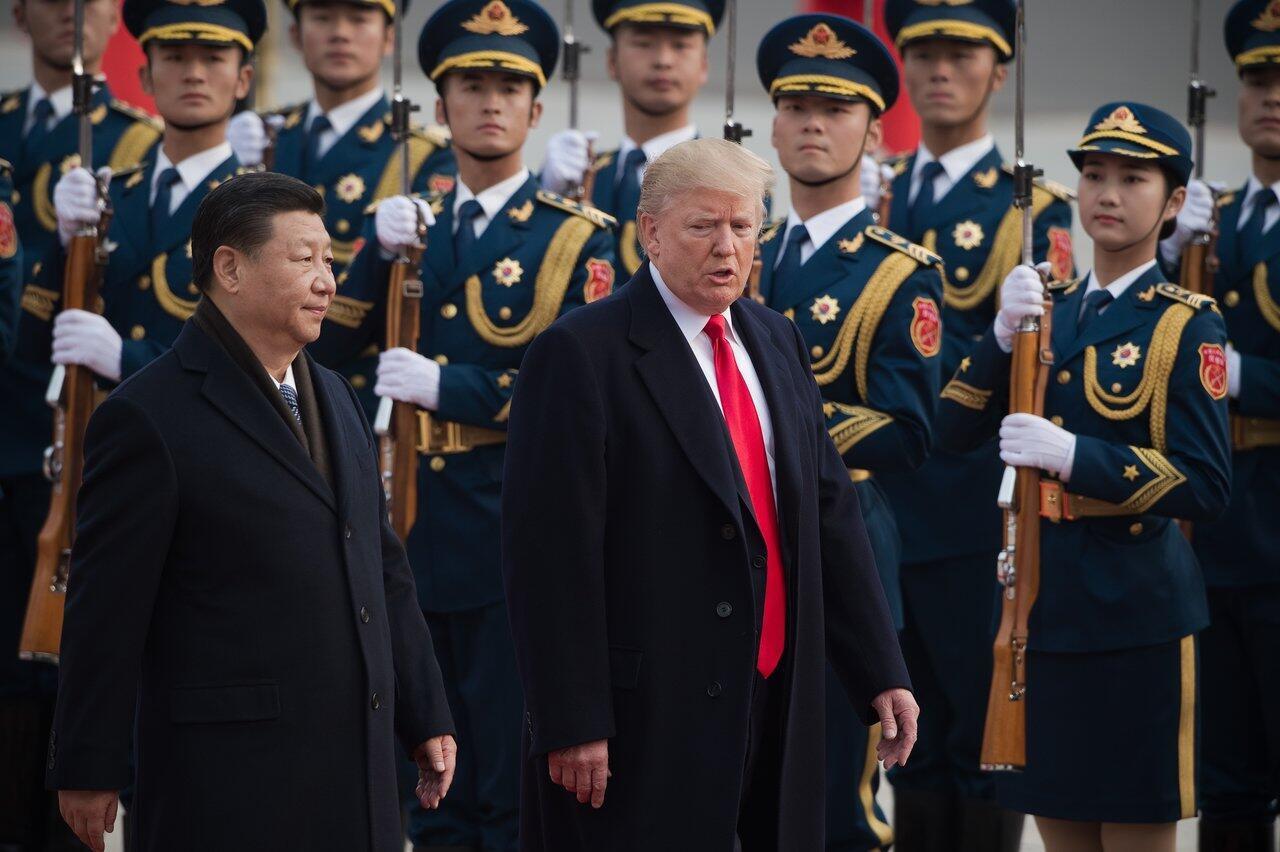 Le président chinois Xi Jinping et son homologue américain Donald Trump, en novembre 2017 à Pékin.